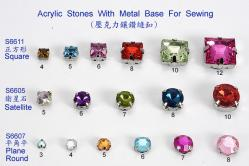 Acrylic Stones With Metal Base For Sewing